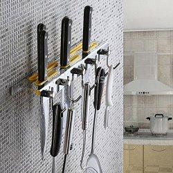 Chinatera Multi-Functional Kitchen Storage Shelf Knife Fork Wall Mounted Hook Hanger