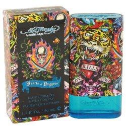 Ed Hardy Hearts & Daggers By Christian Audigier Men'S Eau De Toilette Spray 1.7 Oz - 100% Authentic