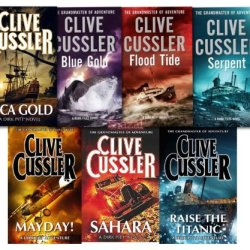 Clive Cussler Dirk Pitt Series Collection 7 Books Set
