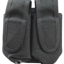 Uncle Mike'S Double 40Mm/37Mm Molle Compatable Round Pouch, Black