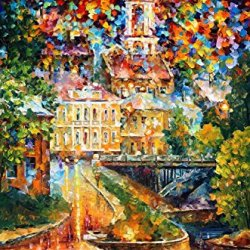 Fine Art Painting Superb Quality And Craftsmanship On Canvas Palette Knife Vitebsk Reflection 24 X 36 In Unframed