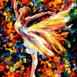 Modern Knife Painting Painting Beauty Of The Dance Wall Decor Superb Paintings On Canvas 30 X 40 In 75 X 100 Cm Unframed