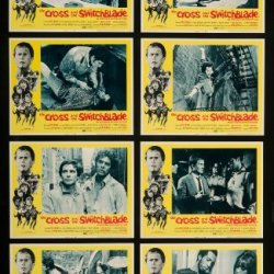 """The Cross And The Switchblade 1970 Original Lobby Cards Biography Crime Drama - Dimensions: 11"""" X 14"""""""