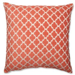 Pillow Perfect Keaton Santa Fe Floor Pillow, 23-Inch, Orange