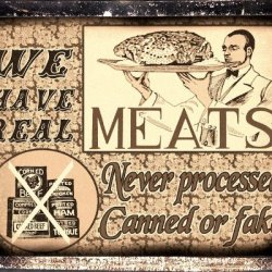Butcher Shop Fresh Meat Sign / Retaurant Deli Diner Kitchen Vintage Retro Wall Decor 046