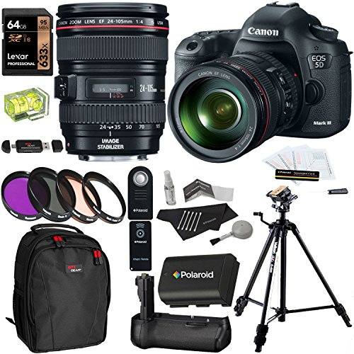 Canon EOS 5D Mark III 22.3 MP Full Frame CMOS Digital SLR Camera EF 24-105mm
