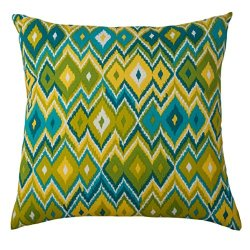 Rizzy Home Tfv010 Prefilled With Knife Cut Edges Printed On Both Sides Decorative Pillow, 22 By 22-Inch, Kiwi Splash