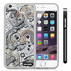 Cowcool® Apple Iphone 6 4.7 Inch Soft Silicone Gear Tour Machinery Transparent Shell Single Layer Protective Case (Style4)