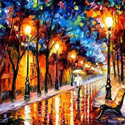 Original Painting Romantic Dream Painting Contemporary Artwork Palette Knife Painting Wall Art Canvas Unframed Painting 15X12In 37.5X30Cm