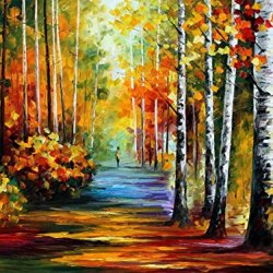 Forest Road Palette Knife Oil Painting On Canvas Wall Art Deco Home Decoration 40 X 30 In Unframed