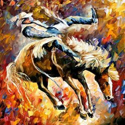 Xm Art-A Horse Dancing On It Palette Knife Landscape Oil Painting On Canvas Wall Art Deco Home Decoration(Unstretch And No Frame)