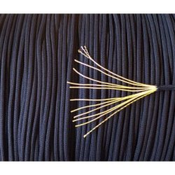 750 Paracord - 5Col Survival Supply: Us Military Spec Mil-C-5040H & Pia-C-5040 Type Iv Nylon Parachute Cord - 11 Core Strands, 9 Colors Available (Navy Blue, 50 Feet)