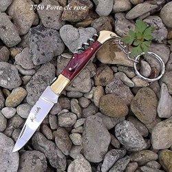 2750 Keyring Corkscrew Folding Pocket Knife. Beautiful Laguiole Bougna France Rosewood Hardwood Solid Brass Mitres Riveted Handle..2750.Uk Delivery 1-3 Working Days.