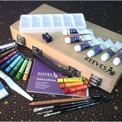 Reeves Oil Paint Artist Box- Complete Set In A Wooden Box