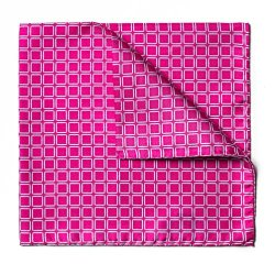 Lazyjack Press Men'S Lazyjack The Knife Pocket Square - Pink