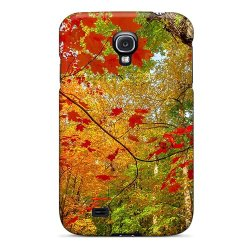 Mine World Beautiful Autumn Colors Case For Galaxy S4 Color Red