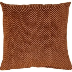 Dakotah Karma Pumpkin Knife Edge Pillows, 17-Inch, Set Of 2