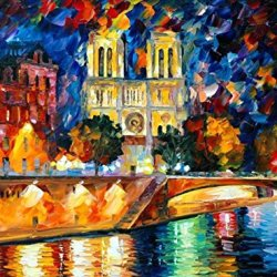 Modern Art Canva Rainning Night Painting Knife Paintng Wall Art Canvas Unframed Painting 32X24In/80X60Cm