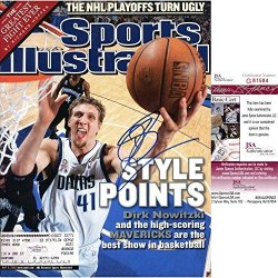 Dirk Nowitzki Autographed Sports Illustrated Magazine - Autographed Nba Magazines