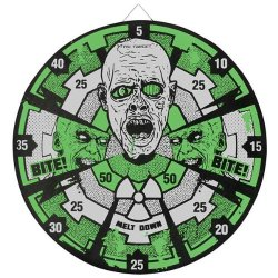 United Cutlery Zombie Target & Throwing Knives Set Neon Green Xl1531
