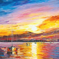 100% Oil Painting Unframed Happiness Of Summer Home Decoration Modern Knife Paintng On Canvas 30X36In/75X90Cm