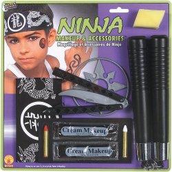 Deluxe Ninja Makeup Kit With Costume Accessories