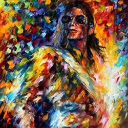 Handpainted Palette Knife Oil Painting On Canvas Wall Art Michael Joseph Jackson Picture For Living Room Home Decorations