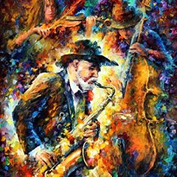 Pallet Knife Oil Painting The Jazz Saxaphone And Roll Home Decor Wall Art On Canvas 12 X 16 Unique Style Of Painting Stunning Colors