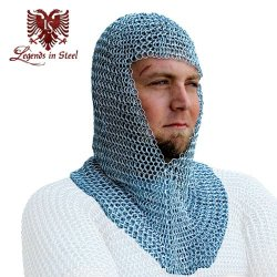 18 Gauge Chain Mail Hood Renissance Fair Costume