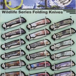 American Wildlife Display W/18 Knives