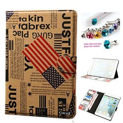Cocoz® Ipad Mini Case Ipad Mini 2/3 Case Vintage Usa Flag Pu Material Ultra Light Stand Weight Scratch Resistant Lining Builtin Multifunctional Wallet For Ipad Mini Ipad Mini 3/2 (Retro Colors & Usa Flag)