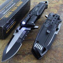 Tac-Force Speedster Emt Ems Folding Pocket Rescue Knife Serrated Led Light New Buy 10 Pc, Discount 10% !!!!