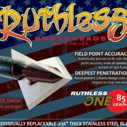 Ruthless Broadheads Zr-One Archery Point, 85Gm