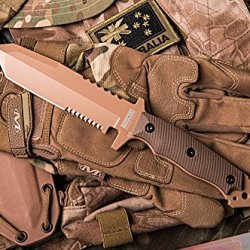 Hardcore Hardware Australia Mfk-02G2 Generation 2 Tactical Survival Knife Desert Brown G-10 Tan Teflon