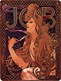 Sheet of 21 Personalised Glossy Stickers or Labels Mucha Alphonse JOB