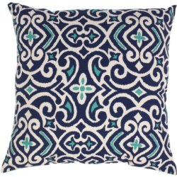 Pillow Perfect Blue/White Damask 23-Inch Floor Pillow