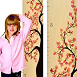 Tall Cherry Blossom Tree of Life Wooden Height Chart