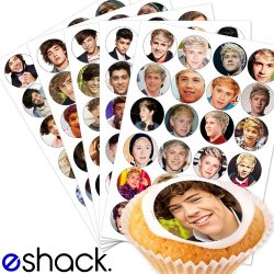 Cakeshop 120 X 1 Direction Edible Cake Toppers, 5 X Sheets Of 24!