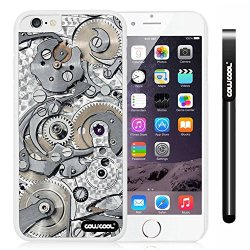 Cowcool® Apple Iphone 6 4.7 Inch Case Hard Pc Gear Tour Machinery White Shell Single Layer Protective Case (Style4)