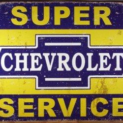 Desperate Enterprises Super Chevy Service Collectible Metal Sign, Model# 1355 , 17X13