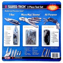 Swiss Tech 3 Piece Tool Set All Purpose, T-Rex & Micro Max