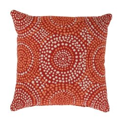 Pillow Perfect Mosaic 16.5-Inch Throw Pillow, Flame
