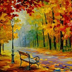 Modern Art Canva Quiet Park Painting Knife Paintng Wall Art Canvas Unframed Painting 32X24In/80X60Cm