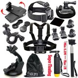 Black-Pro-Basic-Common-Outdoor-Sports-Kit-for-GoPro-Hero-5-Session-54321-13-Items
