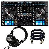Pioneer Pro DJ DDJ-RX DJ Controller. W/ Tascan TH02 and 2 XLR Cables.