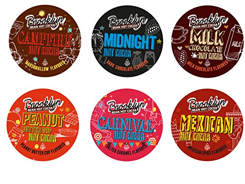 Brooklyn Bean Roastery Hot Cocoa Variety Pack Single Cup for Keurig K Cup Brewers, 40 Count