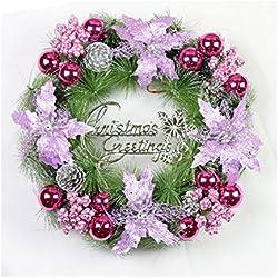 Christmas Decorations Christmas Wreath Pe/pvc Wreath Front Door Wreath (Purple)