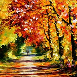 Leonid Afremov Sunny Path Palette Knife Contemporary Impressionist Art Oil Painting On Canvas Artwork, 36 By 30-Inch
