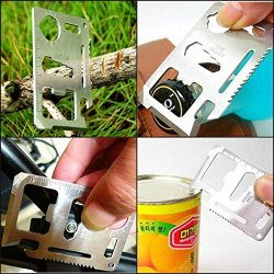 Shells Stainless Steel Plating Military Pocket Credit Card Knife Emergency Camping Survival Kit