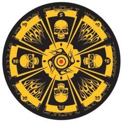 Goblin Skull Target Board And Throwing Knives Set Fantasy Skull Dozen Throwing Set With Board